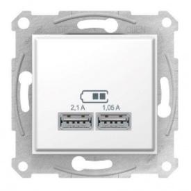 Розетка USB белый Schneider electric Sedna