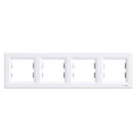 Рамка четырехместная горизонтальная белая Schneider electriс Asfora