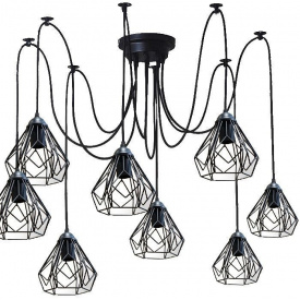 Люстра павук на шість плафонів NL 538-6 MSK Electric