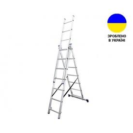 Трехсекционные лестницы Алюминиевая трехсекционная лестница 3х7 ступеней TRIOMAX VIRASTAR