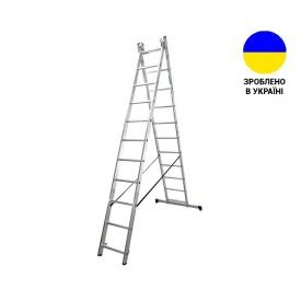 Двухсекционные лестницы Алюминиевая двухсекционная лестница 2x11 ступеней DUOMAX VIRASTAR