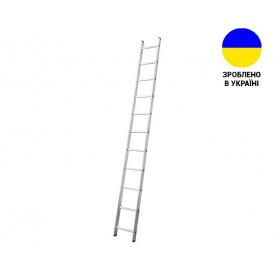 Односекционные лестницы Алюминиевая односекционная лестница 11 ступеней UNOMAX VIRASTAR