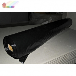 Плёнка полиэтиленовая черная 1500х0,150 мм 50 м/п 150 м2 1 м/п 3 м2