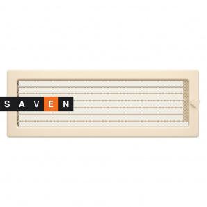 Вентиляционная решетка для камина SAVEN 17х49 кремовая с жалюзи
