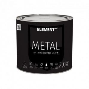 Краска антикоррозионная ELEMENT PRO METAL 2 кг зеленая