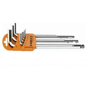 Набір шестигранних ключів NEO Tools 1,5-10 мм 9 шт (09-525)