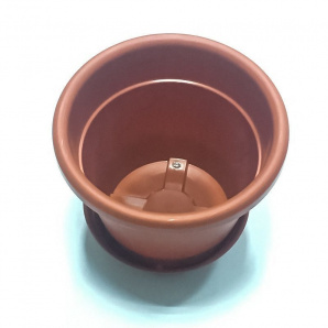 Горшок для цветов с тарелкой 1 л