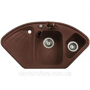 Гранитная кухонная мойка ADAMANT CONSENSUS 1060x575x190 мм коричневая