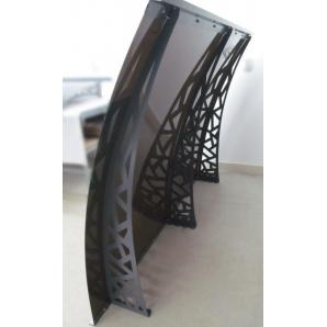 Металевий збірний дашок Dash'Ok Хайтек 2,05м*1м з монолітним полікарбонатом 4мм