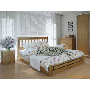 Ліжко Вілідж люкс 180х200 з підйомним механізмом ясен
