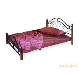 Ліжко Діана з дерев'яними ніжками 90х190