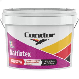 Моющаяся краска для потолков и стен Condor Mattlatex 10л