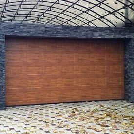 Гаражные секционные ворота под навес ALUTECH Trend 2625×2250 мм