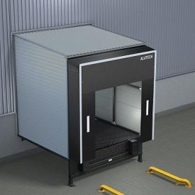 Перегрузочный тамбур ALUTECH DH с обшивкой сэндвич-панелями 2000х3400 мм