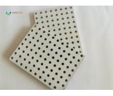 Перфорована гіпсова звукопоглинаюча плита з круглими отворами 600x600x12,5 мм