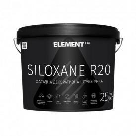 Фасадная декоративная штукатурка ELEMENT PRO SILOXANE R20 25 кг База LAP белая