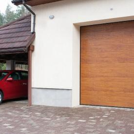 Cекционные гаражные ворота ALUTECH Trend 2500×2125 мм