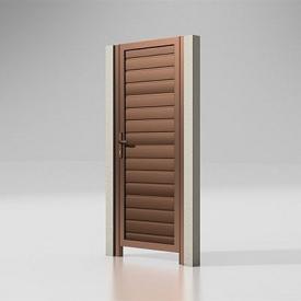 Калитка Alutech 68 мм сэндвич-панель S-гофр шоколад (RAL 8017)