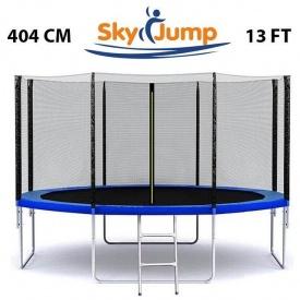 Батут SkyJump 13 FT 404 см с защитной сеткой 180 см и лесенкой