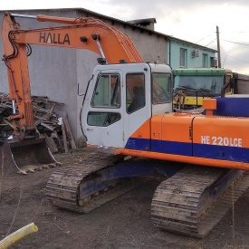 Аренда гусеничного экскаватора HALLA HE 220 LCE ковш 1,25 м3