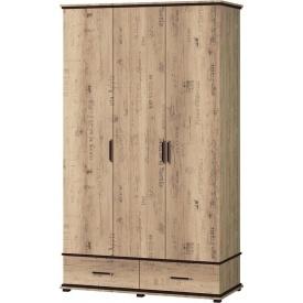 Шкаф 3ДШ Палермо Мир мебели Дуб корабельный