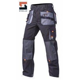 Штани робочі захисні SteelUZ зі світло-сірим оздобленням