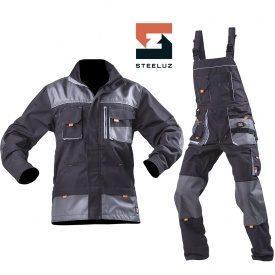 Костюм рабочий SteelUZ куртка+полукомбинезон со светло-серой отделкой