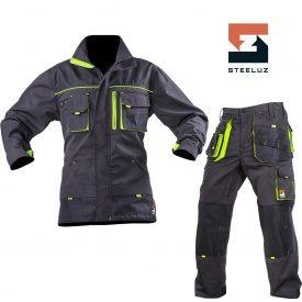 Костюм рабочий SteelUZ куртка+брюки с салатовой отделкой