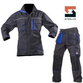 Костюм рабочий SteelUZ куртка+брюки с синей отделкой
