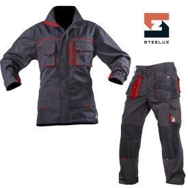 Костюм рабочий SteelUZ куртка+брюки с красной отделкой