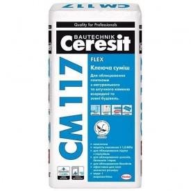 Клей для плитки Ceresit CM 117 25 кг из природного искусственного камня