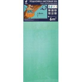 Підкладка листова бірюзова під ламінат і паркет Solid 1200х500х6 мм XXL 6 мм упаковка 6 м2