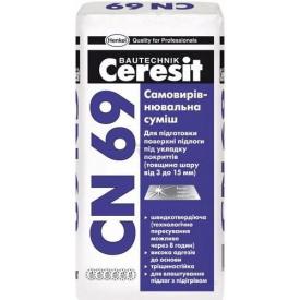 Самовыравнивающаяся смесь для пола 3-15 мм Ceresit CN 69 25 кг