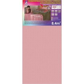 Подложка-гармошка розовая перфорированная для пола с подогревом 1050x500x1,8 мм 8,4 м2
