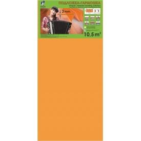 Подложка-гармошка оранжевая под ламинат и паркет Солид 1050x500x3 мм упаковка 10,5 м2