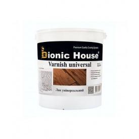 Лак универсальный Bionic-House на основе акрил-стирольного сополимера 2,5 л