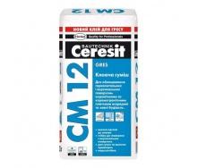 Клеещая смесь для плитки на пол и керамогранита Ceresit СМ 12 25 кг