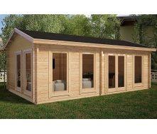 Альтанка дерев'яна з профільованого бруса з закритою кімнатою 7х4