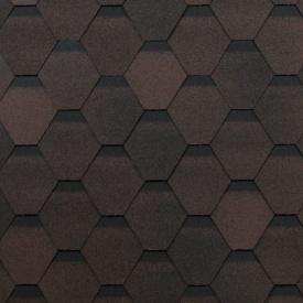 Бітумна черепиця Shinglas Оптима 2,4х317х1000 мм коричневий