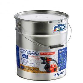 Грунт-эмаль Gaia 3 в 1 по ржавчине 25 кг