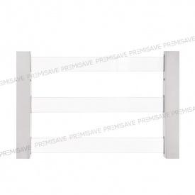 Прозрачная защитная решетка на окно PREMISAVE белый 1300х1400 мм