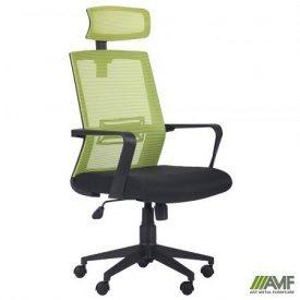 Офисное кресло AMF Neon HR 1120-1280х580х650 мм салатовое черное