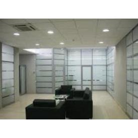 Алюминиевые офисные перегородки марки Алютех со стеклом