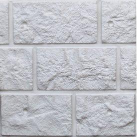 Фасадная термопанель Полифасад Греческая кладка 55х500х500 мм серая