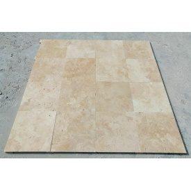 Плитка из травертина Cross Cut Unfilled&Brushed Premium 20,3х40,6 см