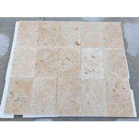 Плитка из травертина Cross Cut Unfilled&Brushed Standart 20,3х40,6 см