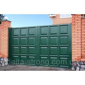 Ворота розпашні Дельта металеві фільонка