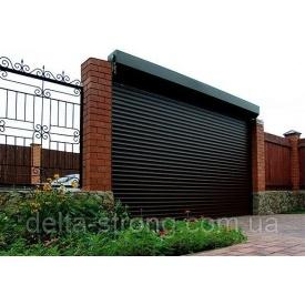 Роллетные гаражные ворота Alutech металл черные