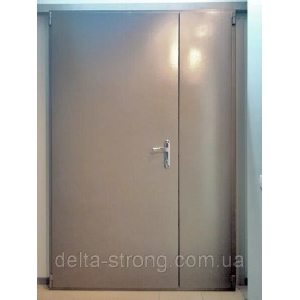 Двері протипожежні двопільні Дельта ЕІ-30 метал скло