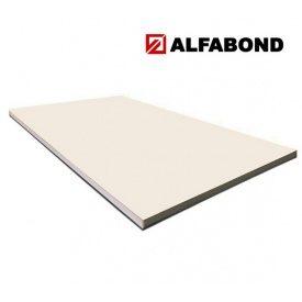 Алюмінієва композитна панель Alfabond 1500x5600х4/0,3 мм Cream White